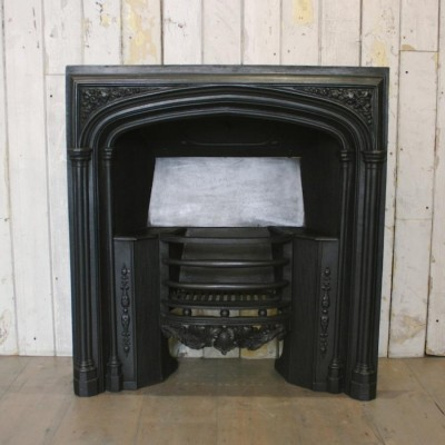 Antique Gothic Revival Fireplace Insert
