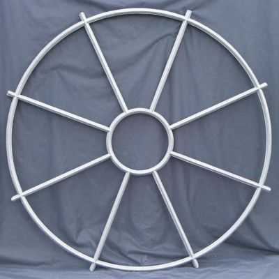 pair large circular cast iron windows