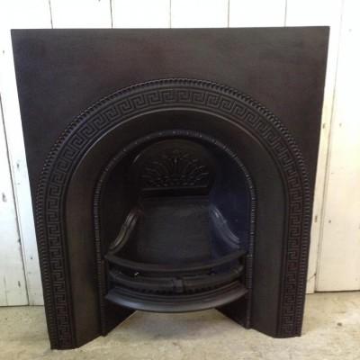 Antique Victorian cast iron fire
