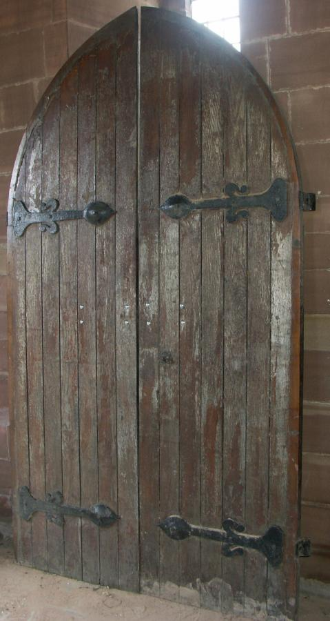 For Sale Antique Arched Oak Church Doors Salvoweb Uk