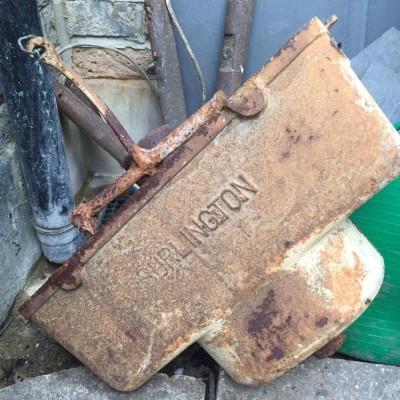 Original cast iron Burlington toilet high cistern