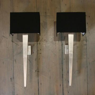Pair of Reclaimed Minimalist Sconces