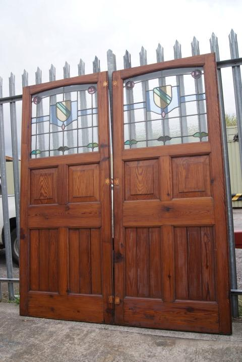 For Sale Stained Glass Double Doors Salvoweb Uk