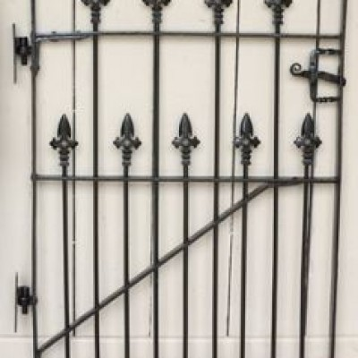 Victorian Wrought Iron Pedestrian Gate with Hinges