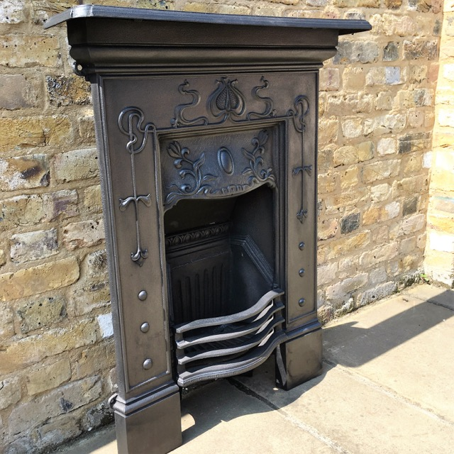 Reclaimed Art Nouveau Style Fireplace