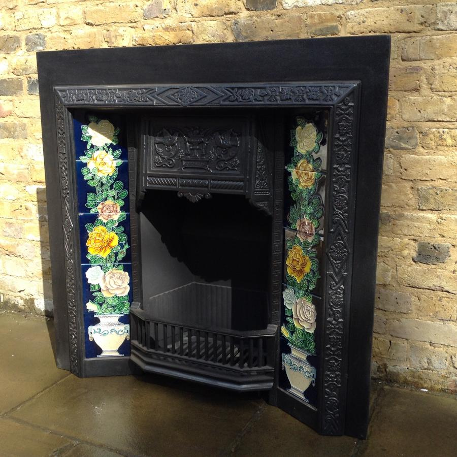 Reclaimed Victorian Style Fire Insert