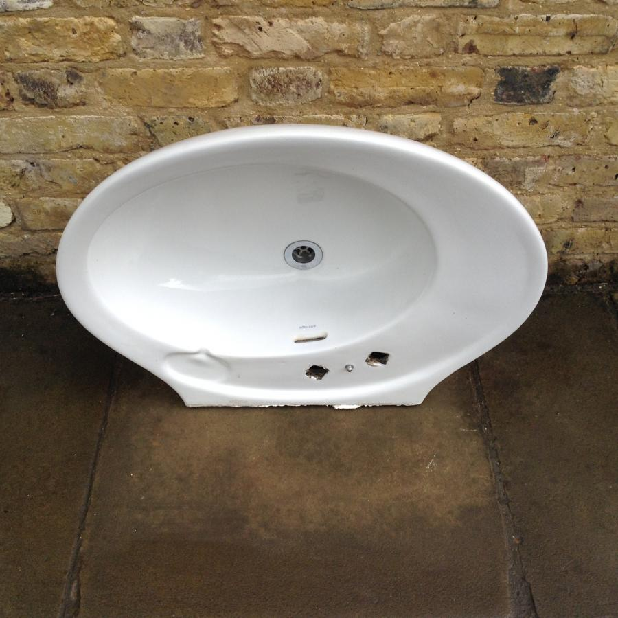 A Reclaimed Bathroom Sink