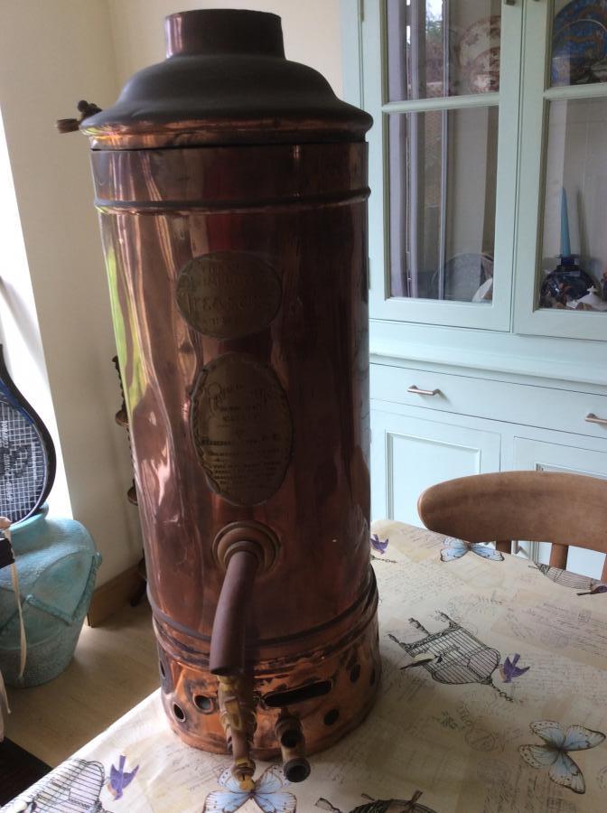 For Sale Antique copper water heater/geyser- SalvoWEB UK