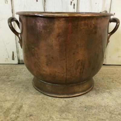 Reclaimed Copper Coal Bucket