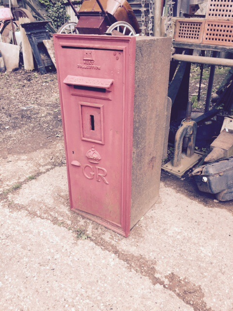 Original, large built in the wall GR post box