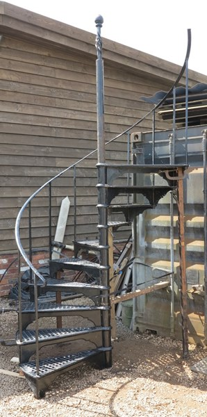 Good Reclaimed Large Black Cast Iron Spiral Staircase