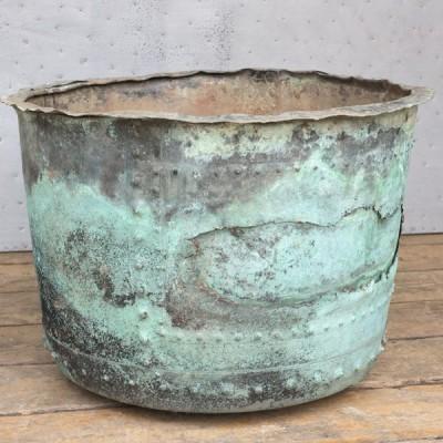 Original Large Antique Victorian Copper Planter or Pot