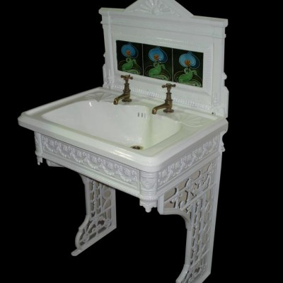 Art Nouveau cast iron sink/basin stand