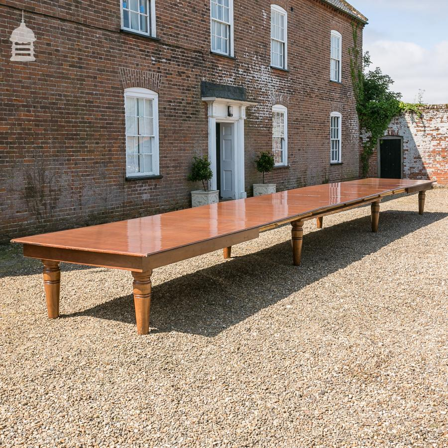 For Sale Extendable Mahogany Boardroom Conference Table With - Conference table with leaves