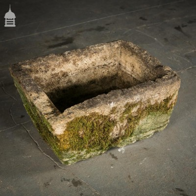 Limestone Trough/Planter with Extensive Moss and Lichen Growth