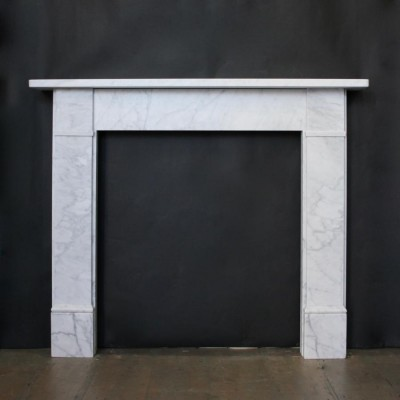Reclaimed Victorian Style Carrara Marble fire surround