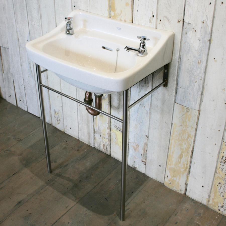 Reclaimed Washbasin on Stand