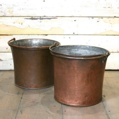 A Pair of Antique Copper Pails