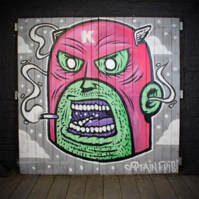 Camden Market Graffiti Art Work - Captain Kris