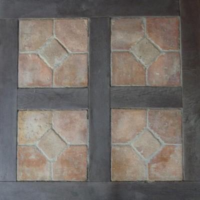 carreaux anciens terre cuite chene - antique terracotta & oak