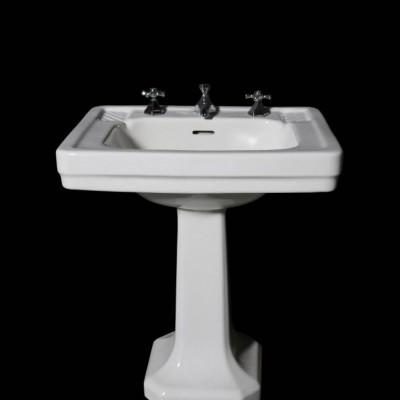 Original Art Deco Pedestal Basin With Taps