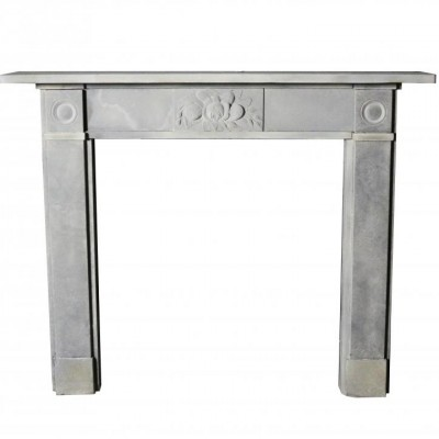 Early 19th Century Carved Stone Fire Surround
