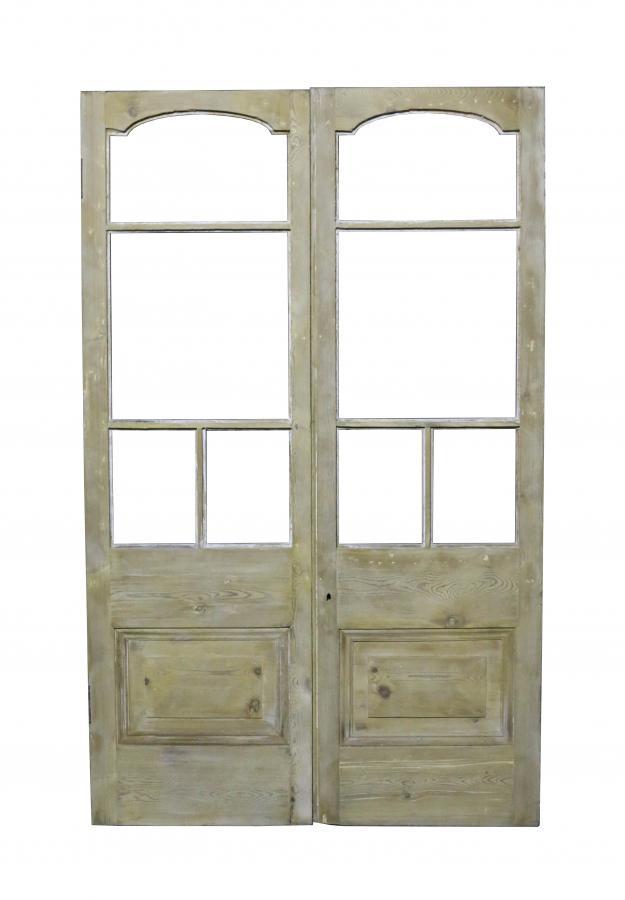 Pair Of Antique Exterior Pine Double Doors