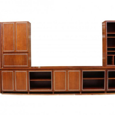 1960's Fitted Library Bookcase And Cabinets