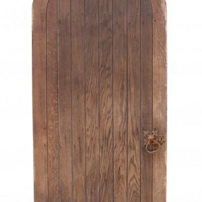 Late 19th Century Arched Oak Exterior Door