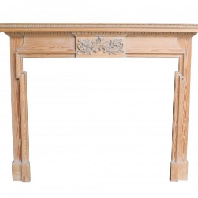 Carved Pine Fire Surround / Mantel Circa 1910