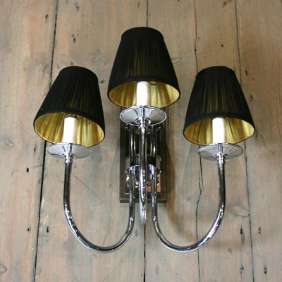 Mounted Wall Lights With Chrome Fittings