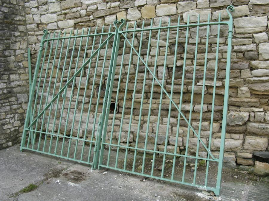 Large Pair Of 19th Century Iron Gates