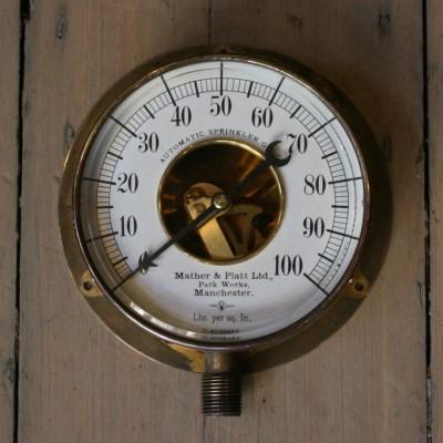 Antique Brass Automatic Sprinkler Gauge
