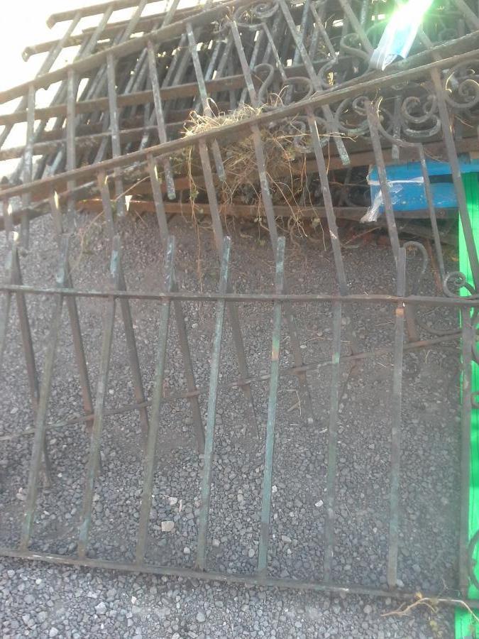 Victorian wrought iron railings