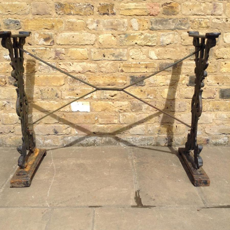 Cast iron table base