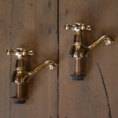 Reclaimed Pair of Brass Taps
