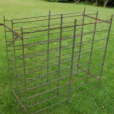 Antique metal wine rack / storage double size