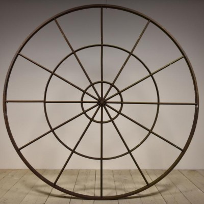 six foot circular frame mirror