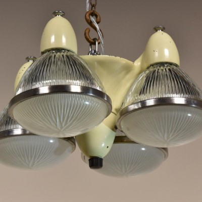 antique 1940s dental chandelier holophane shades