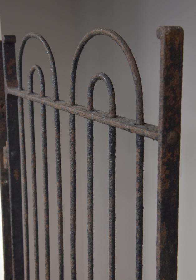 antique wrought iron pedestrian estate gate
