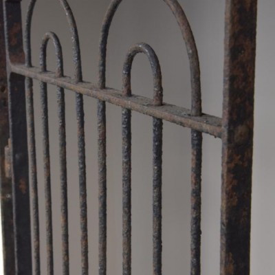 antique wrought iron pedestrian estate gate