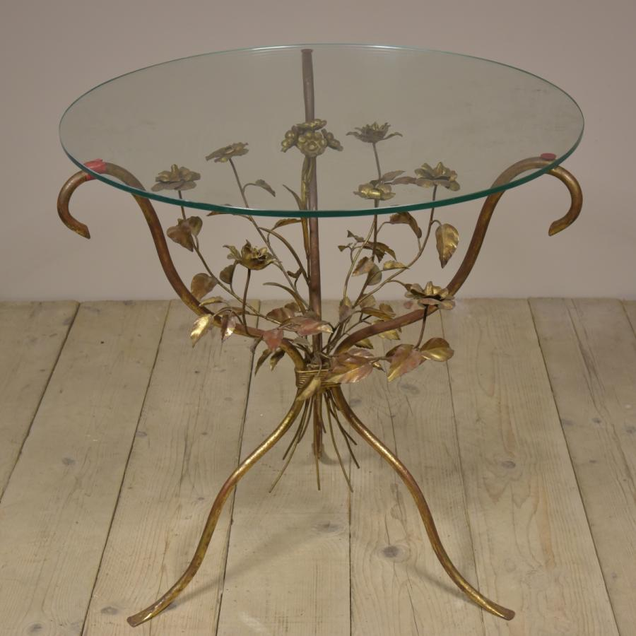 vintage italian toleware table