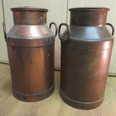 Reclaimed Copper Milk Churns
