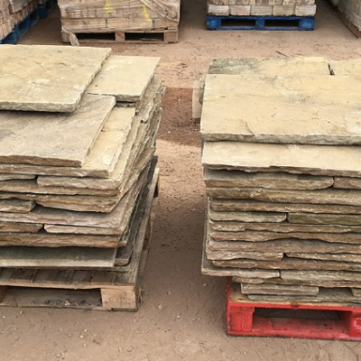 230 sq m Reclaimed Indian Sandstone Flags