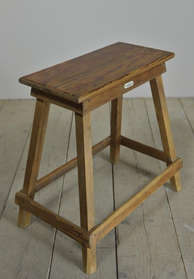 antique hand loom centre stool