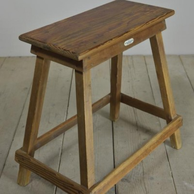 antique hand loom centre stool