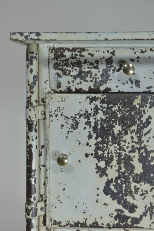 antique swiss steel bedside cabinet c1900