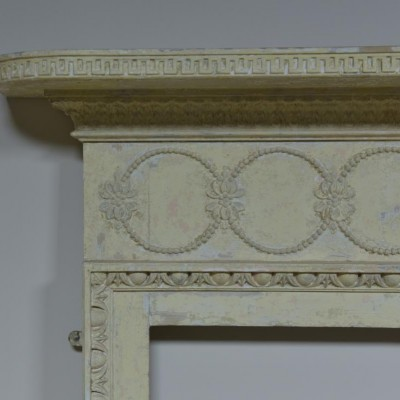 antique regency pine and gesso fire surround