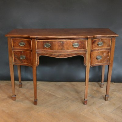 Antique Georgian Flame Mahogany Sideboard
