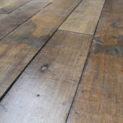 antique oak floorboards with original waxed patina